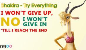 【聽歌學英文】[電影]動物方程式經典名曲 Shakira–Try Everything