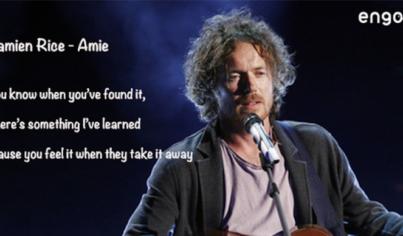 【聽歌學英文】Damien Rice—Amie