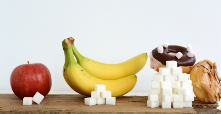 compare fruit's sugar amount