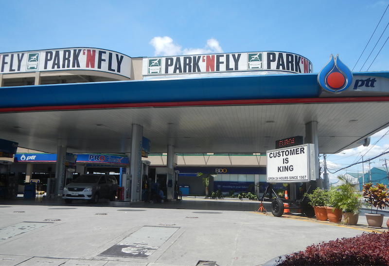 Gas station in the Philippines